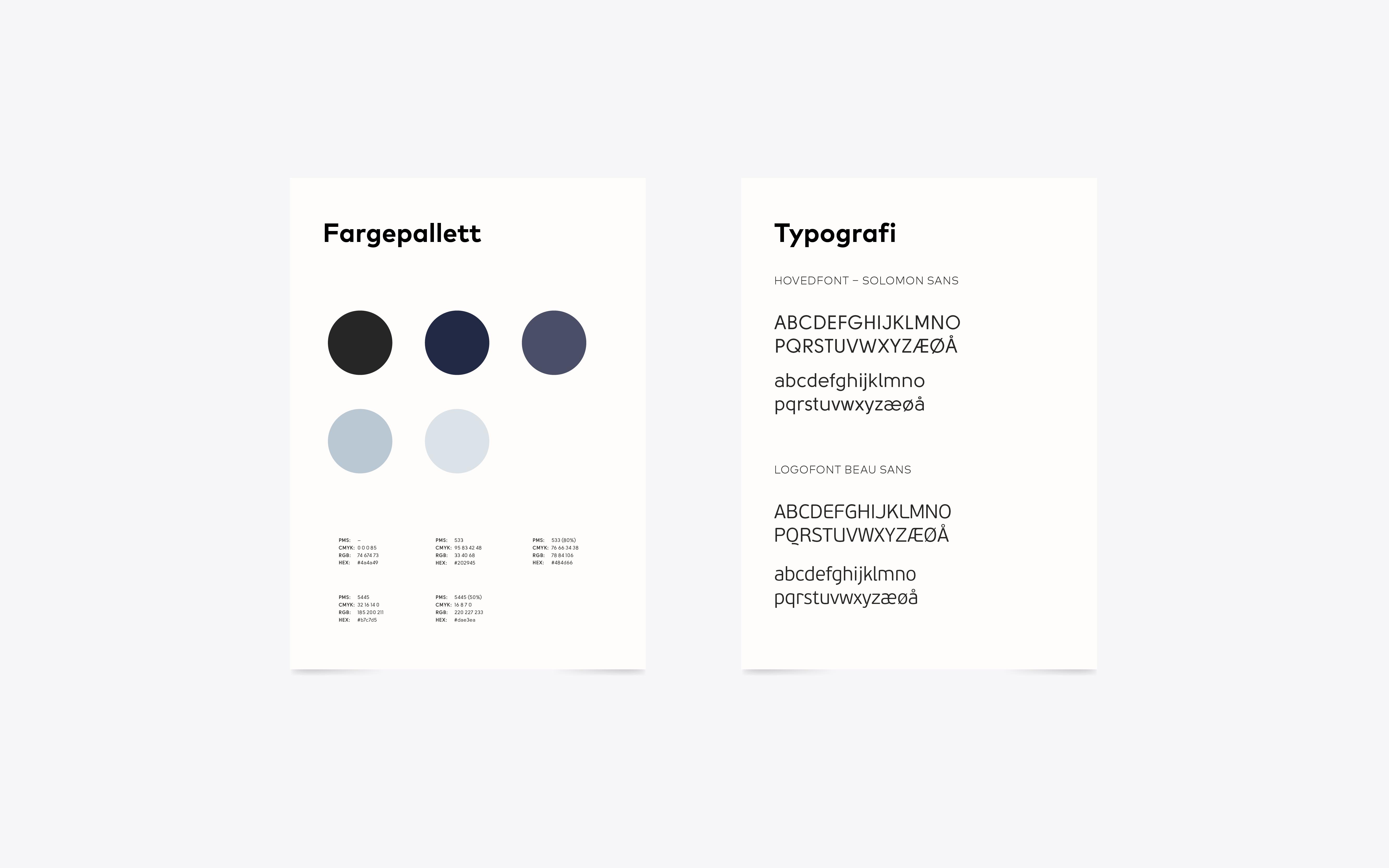 ePlast farger og typografi