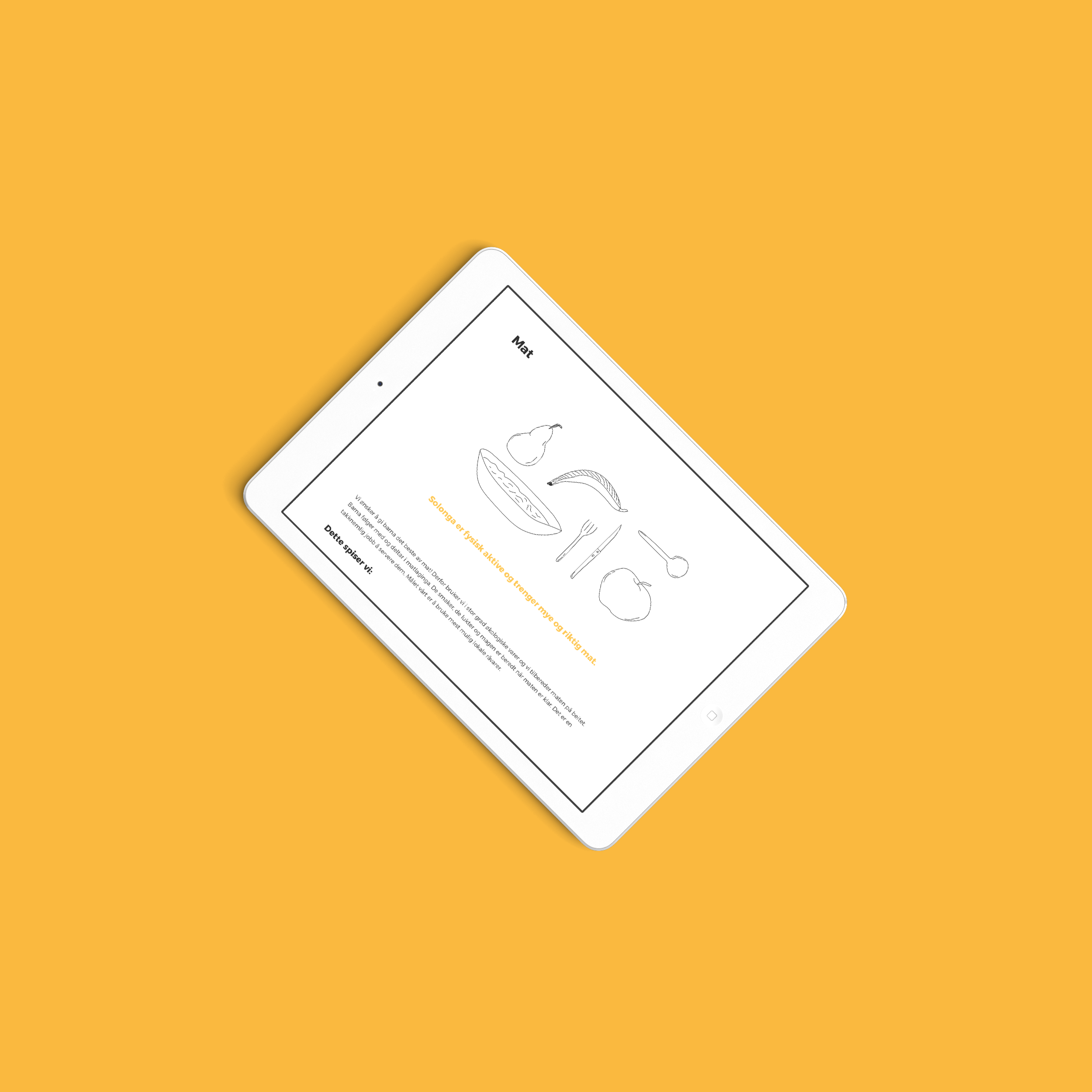 Solsida barnebeite web nettbrett/iPad