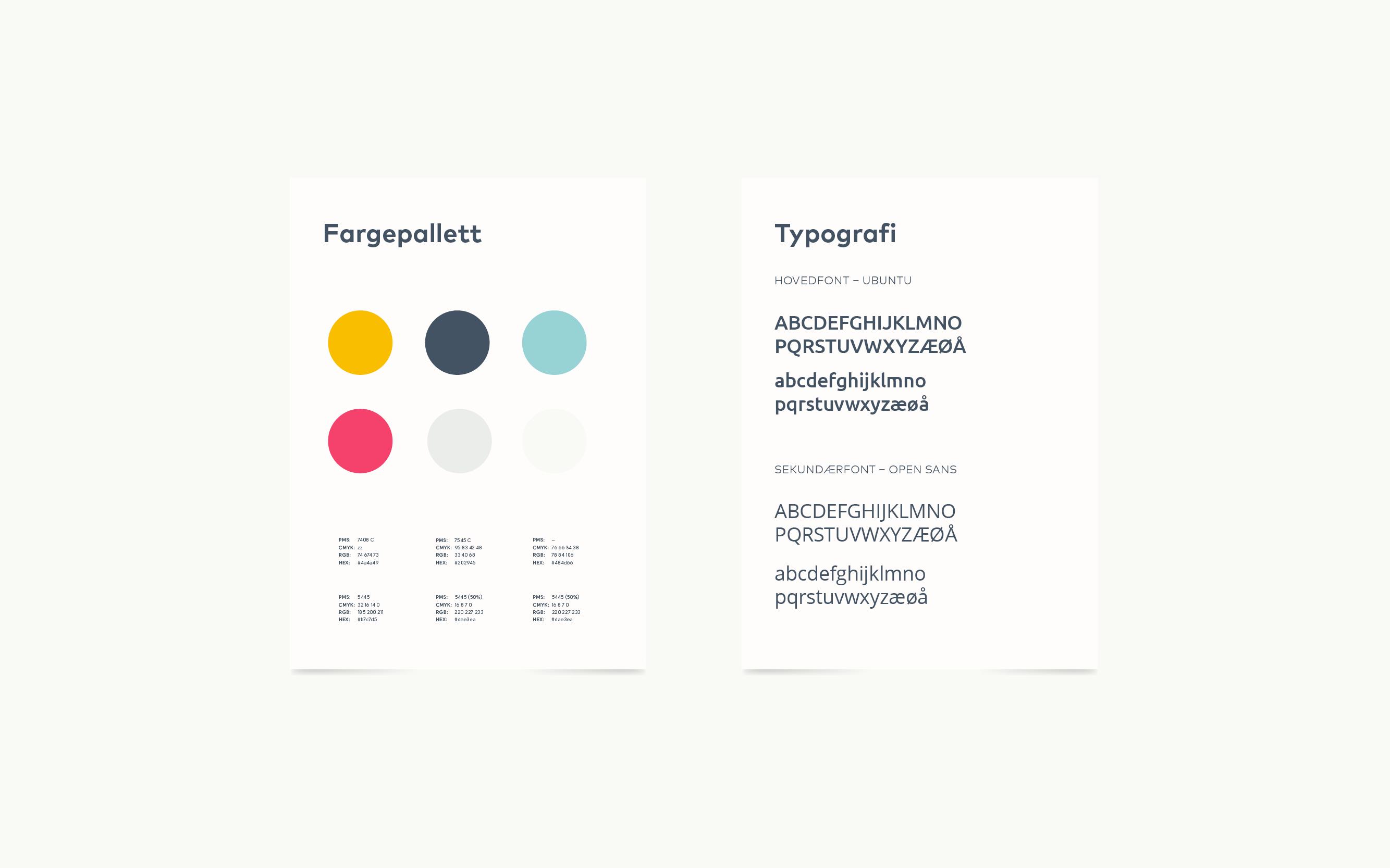 Hapro jobb og karriere fargepallett og typografi