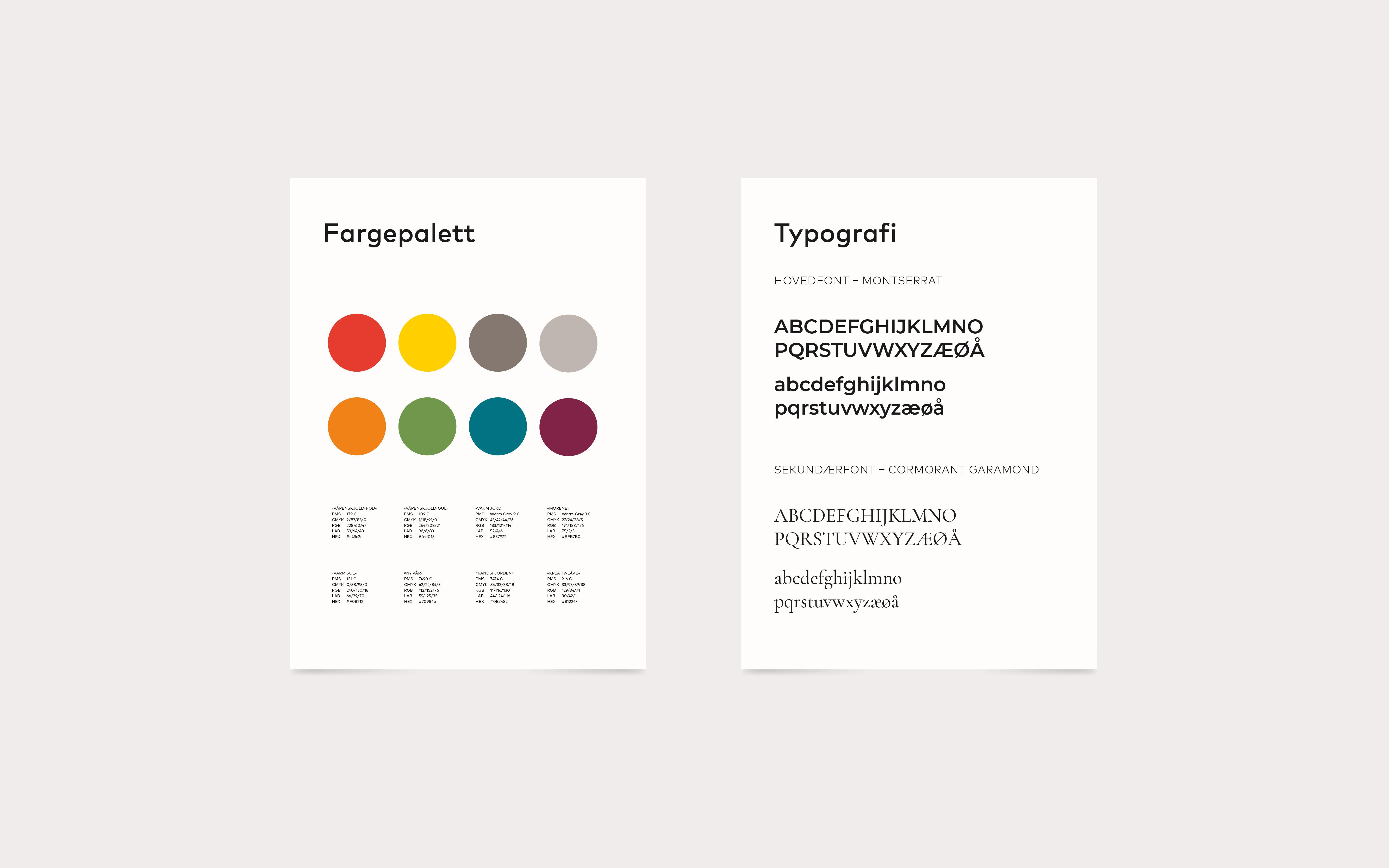 Gran kommune fonter og farger